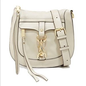 Rebecca Minkoff Dog Clip Saddle Bag - color khaki